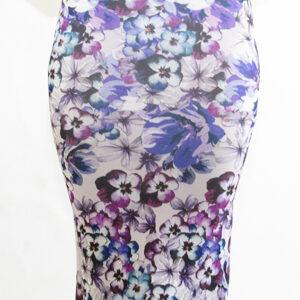 Stylish Floral Scuba Midi Skirt