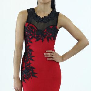 Stylish Bandage Laced Midi Dress