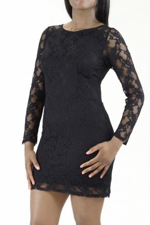 Stylish Open Back detail Lace Dress