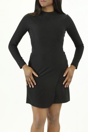 Stylish Front Wrap Long Sleeve Dress