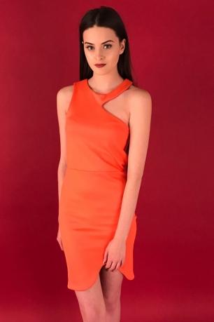 Stylish Cut Out Bodycon Scuba Dress