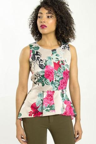 Stylish Peplum Floral Top