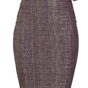 Stylish Metallic High waisted Pencil skirt