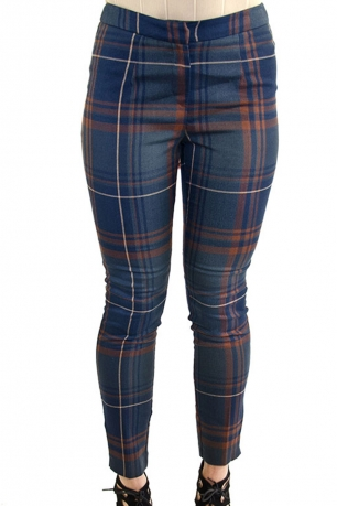 Stylish Check Tailored Trousers