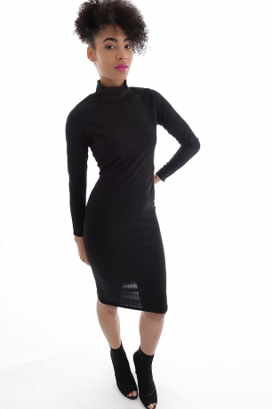 Stylish Ribbed Bodycon Dress