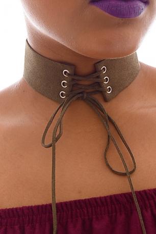 Stylish Lace Up Choker Necklace