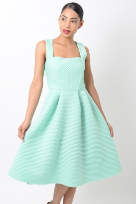 Stylish Midi Skater Dress