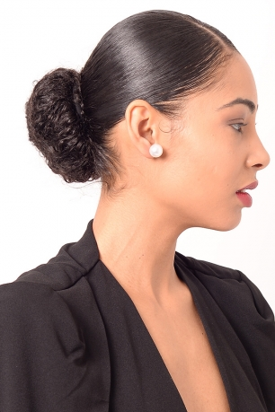Stylish Pearl Hoop Earrings