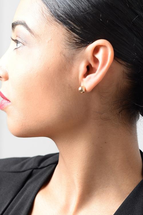 Stylish Gold Hoop Earrings