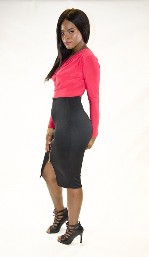 Stylish Midi Pencil Skirt