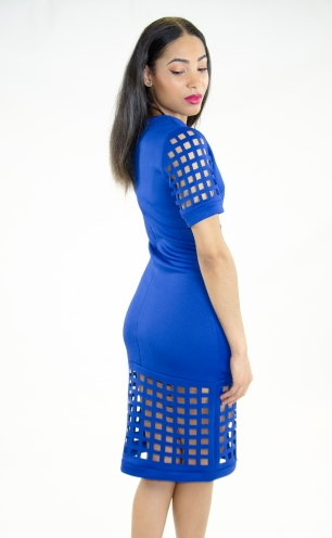 Stylish Laser Cut Bodycon Dress