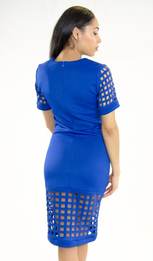 Stylish Laser Cut Bodycon Dress