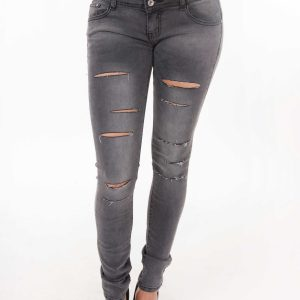 Stylish Mid Rise Ripped Jeans