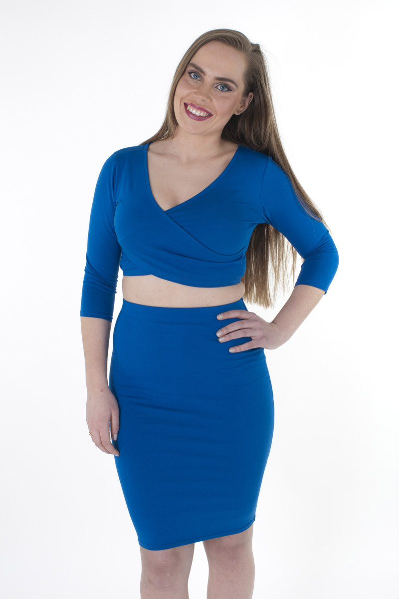 Best Stylish Nail Art Ideas 2013: Stylish Crop Top And Skirt Set