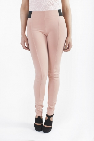 Stylish Leggings With Elastic Waist Contrast