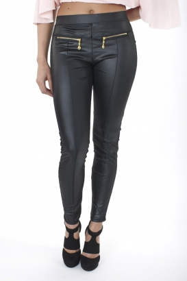 Stylish Leather Look Leggings