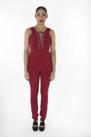 Stylish Lace Up Jumpsuit