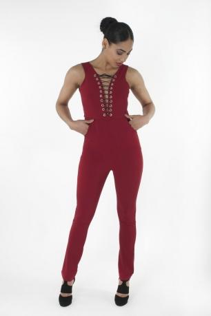 Stylish Lace Up Jumpsuit