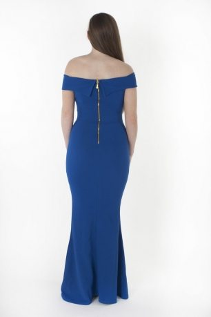 Stylish Off The Shoulder Bodycon Maxi Dress