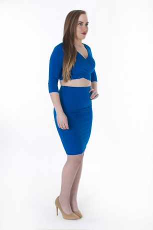 Stylish Crop Top And Skirt Set