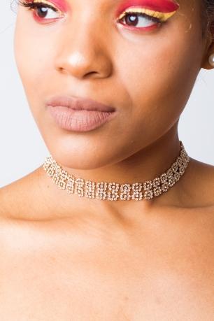 Stylish Rose Diamond Choker
