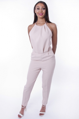 Stylish Open Back Jumpsuit