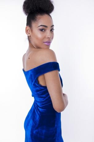Stylish Off The Shoulder Velour Dress