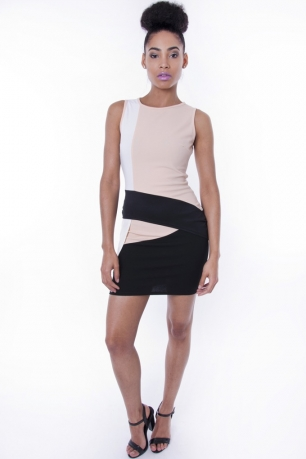 Stylish Colour Block Mini Dress