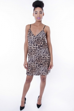 Stylish Leopard Print Cami Dress