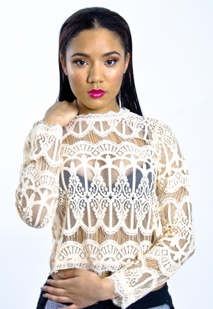 Stylish Long Sleeve Lace Top