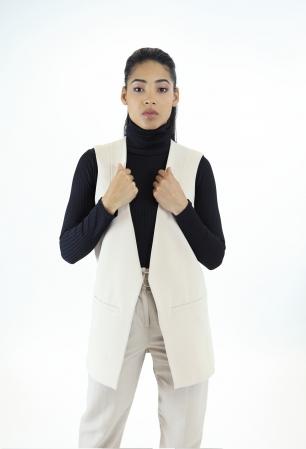 Stylish Sleeveless Blazer