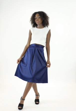 Stylish High Waisted Midi Skirt
