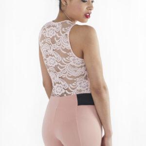Stylish Short Sleeve Lace Bodysuit