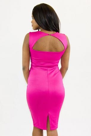Stylish Short Sleeve Midi Bodycon Dress