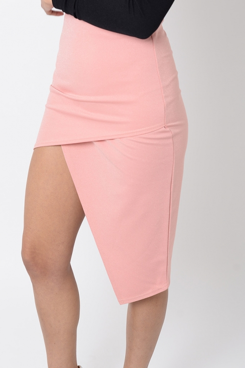 Stylish Asymmetric High Waisted Skirt