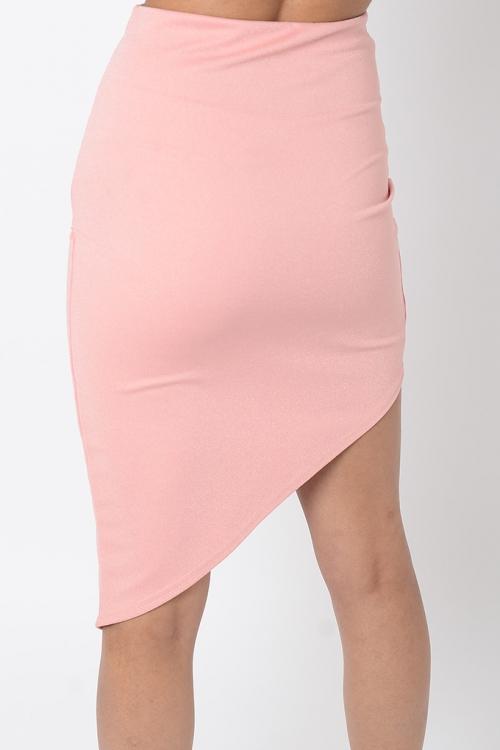 Stylish Asymmetric High Waisted Skirt