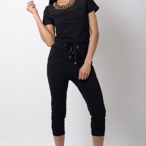 Stylish Black Jersey Jumpsuit