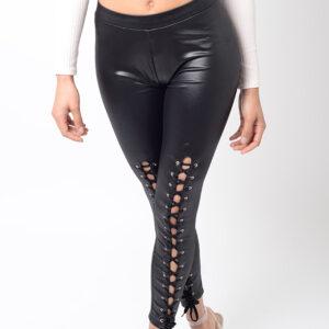 Stylish Black Lace Up Leggings