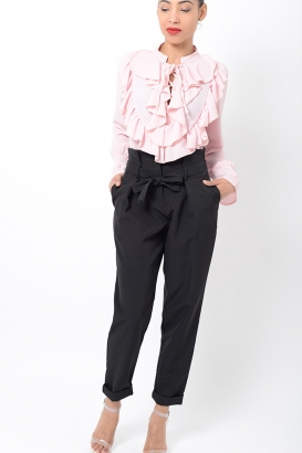 Stylish Black Peg Trousers