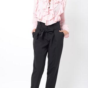 Stylish Black Peg Trousers