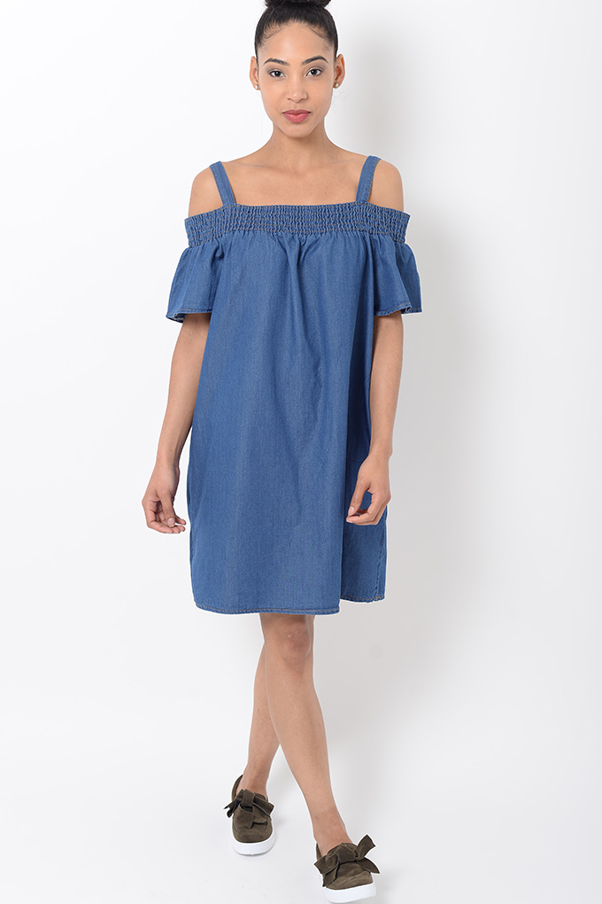 stylish blue bardot shift dress stylish dresses bardot