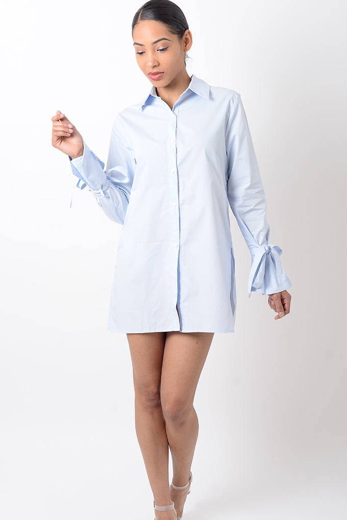stylish blue long sleeve shirt dress stylish dresses