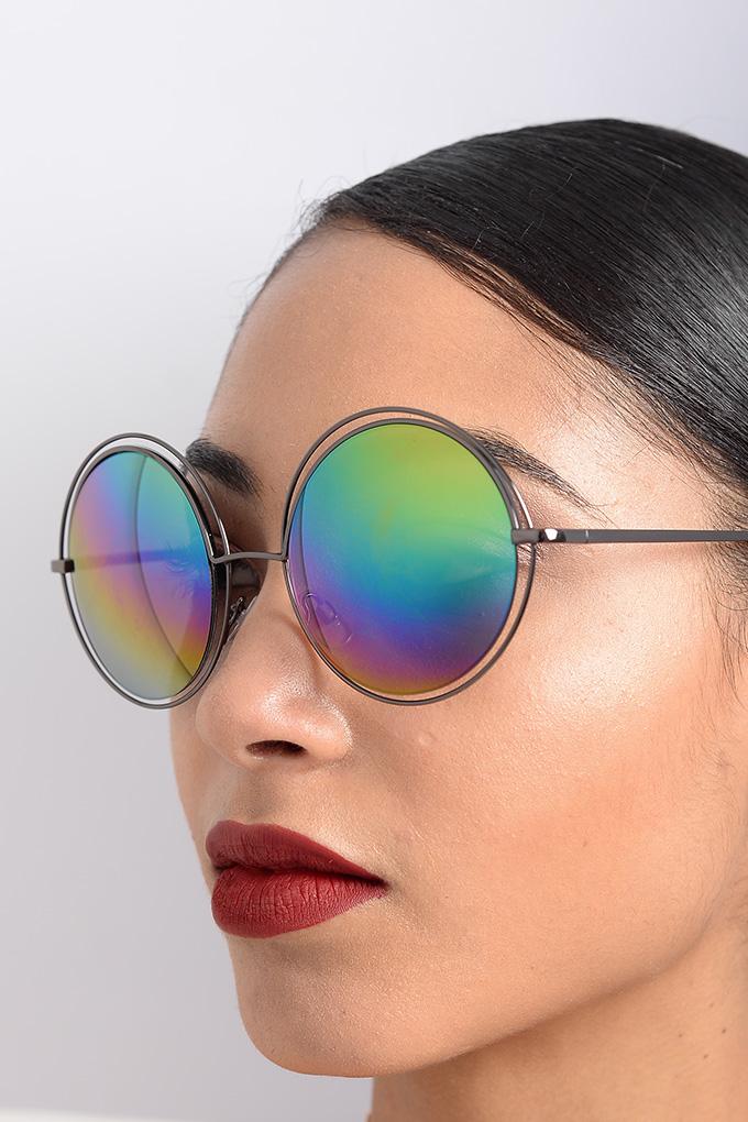 8cd6ebd7455a8 Stylish Blue Mirrored Sunglasses