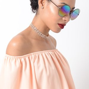 Stylish Blue Mirrored Sunglasses