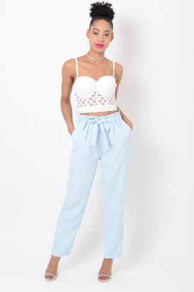 Stylish Blue Peg Trousers