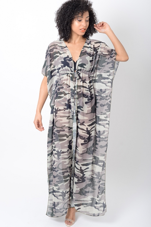 Stylish Camo Beach Dress