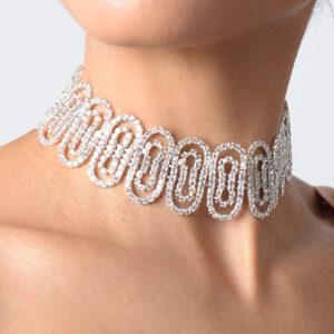 Stylish Circle Ring Diamond Choker