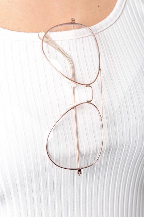 Stylish Clear Lens Aviator Glasses