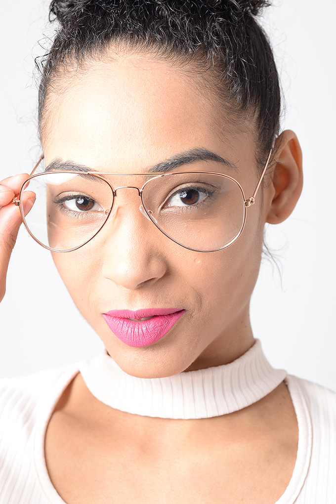 Stylish Clear Lens Aviator Glasses Aviator Glasses