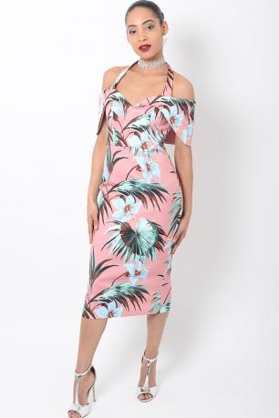 Stylish Floral Midi Dress
